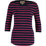 22 Navy & red stripe top